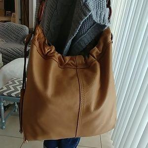 Lucky Brand Boho Hippie drawstring leather Hobo